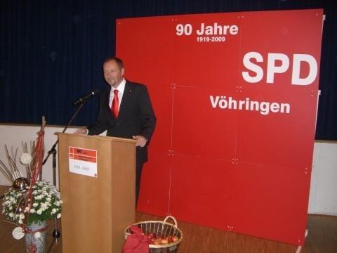 Begrüßung durch Volker Barth, Ortsvorsitzender SPD-Vöhringen